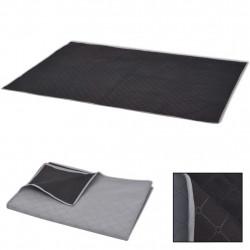 Sonata Одеяло за пикник, сиво и черно, 150x200 см - Спорт и Свободно време