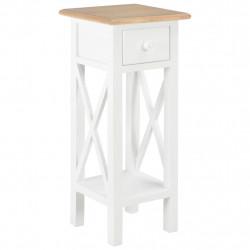 Sonata Помощна маса, бяла, 27x27x65,5 см, дървена - Тоалетки