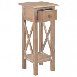 Sonata Странична маса, кафява, 27x27x65,5 см, дървена - Тоалетки