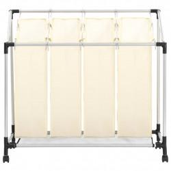 Sonata Кош за сортиране на пране с 4 торби, кремав, стомана - Техника и Отопление