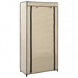 Sonata Шкаф за обувки с покривало, кремав, 58х28х106 см, плат - Шкафове за обувки