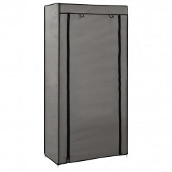 Sonata Шкаф за обувки с покривало, сив, 58х28х106 см, плат - Шкафове за обувки
