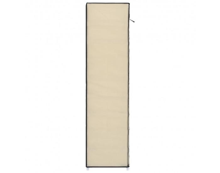 Sonata Шкаф за обувки с покривало, кремав, 115х28х110 см, плат -