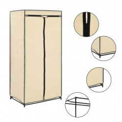 Sonata Гардероб, кремав, 75x50x160 см - Гардероби