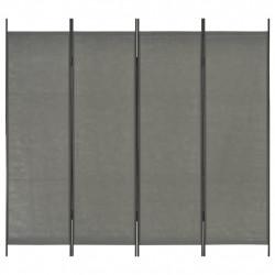 Sonata Параван за стая, 4 панела, антрацит, 200x180 см - Аксесоари за Всекидневна
