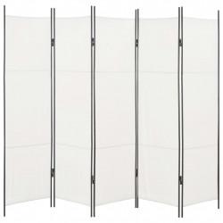 Sonata Параван за стая, 5 панела, бял, 250x180 см - Аксесоари за Всекидневна