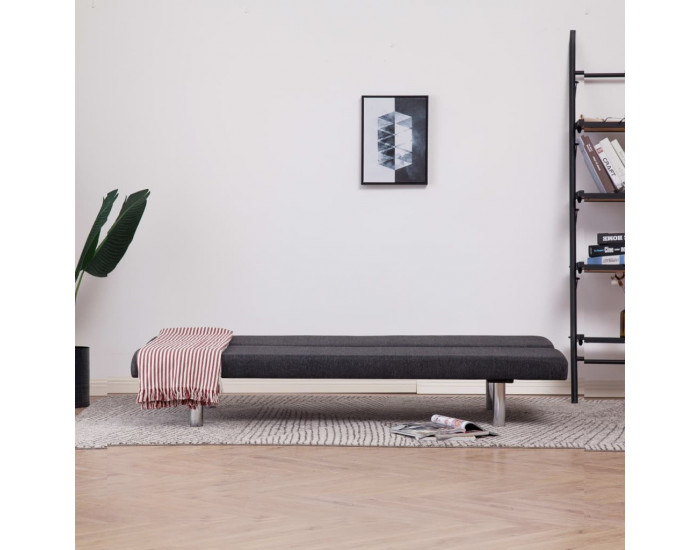 Sonata Разтегателен диван, тъмносив, полиестер -