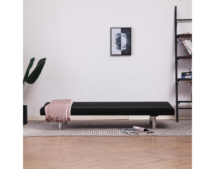 Sonata Разтегателен диван, черен, полиестер -