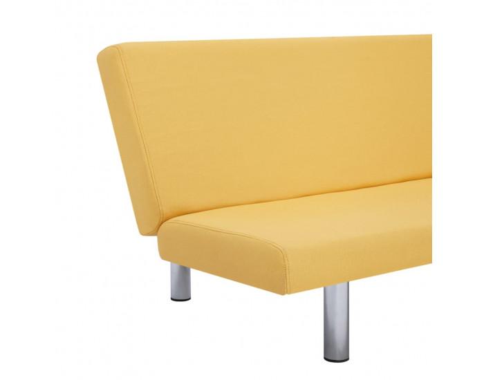 Sonata Разтегателен диван, жълт, полиестер -