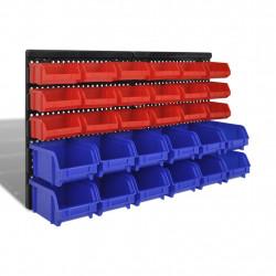 Комплект кошове за съхранение на вещи, 30 броя, цвят син и червен - Инструменти