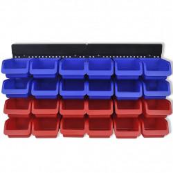 Органайзер за инструменти за стенен монтаж, 2 броя, син и червен - Инструменти