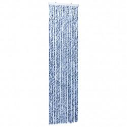 Sonata Завеса против насекоми синьо бяло и сребристо 56x185 см шенил - Щори