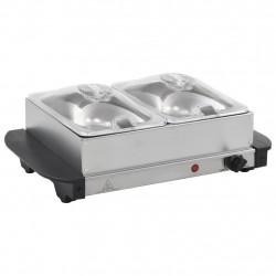 Sonata Бюфет за топло сервиране, неръждаема стомана, 200 W, 2x1,5 л - Техника и Отопление