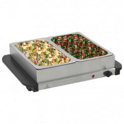 Sonata Бюфет за топло сервиране, неръждаема стомана, 200 W, 2x2,5 л - Малки домакински уреди