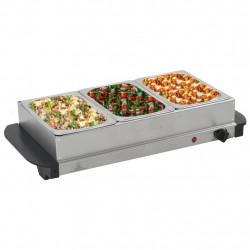 Sonata Бюфет за топло сервиране, неръждаема стомана, 200 W, 3x1,5 л - Малки домакински уреди