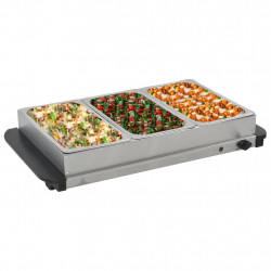 Sonata Бюфет за топло сервиране, неръждаема стомана, 300 W, 3x2,5 л - Малки домакински уреди