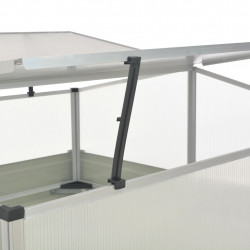 Sonata Парник, кафяв, 100x100x85 см, поцинкована стомана - Оранжерии и Парници