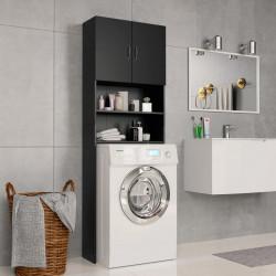 Sonata Шкаф за пералня, черен, 64x25,5x190 см, ПДЧ - Шкафове за Баня