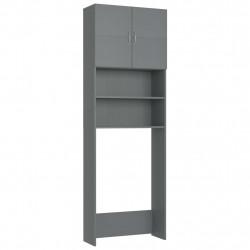 Sonata Шкаф за пералня, сив, 64x25,5x190 см, ПДЧ - Шкафове за Баня