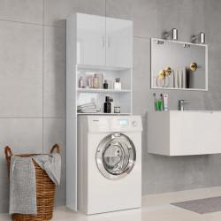 Sonata Шкаф за пералня, бяло със силен гланц, 64x25,5x190 см, ПДЧ - Шкафове за Баня