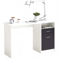 FMD Бюро с 1 чекмедже, 123x50x76,5 см, бяло и черно - Сравняване на продукти