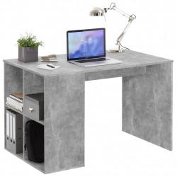 FMD Бюро със странични рафтове, 117x73x75 см, бетонен цвят - Сравняване на продукти