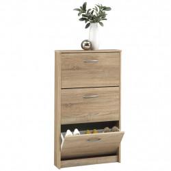 FMD Шкаф за обувки с 3 падащи врати, дъб - Сравняване на продукти