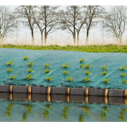 Nature Покривна мрежа срещу плевели, 1x10 м, зелена - Оранжерии и Парници