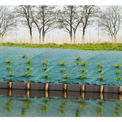 Nature Покривна мрежа срещу плевели, 2x5 м, зелена - Оранжерии и Парници