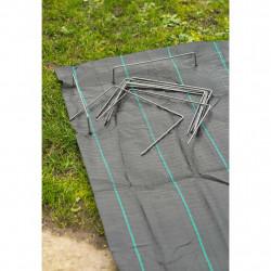 Nature Фиксиращи скоби за мрежа срещу плевели, 20 бр, 25x20 см, метал - Аксесоари за градината