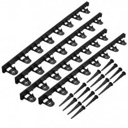 Nature Градинска бордюрна лента и заземителни клинове, черна - Външни Структури