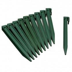 Nature Градински клинове за фиксиране, 10 бр, зелени - Външни Структури