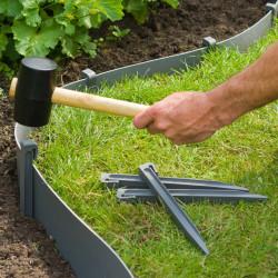 Nature Градински клинове за фиксиране, 10 бр, сиви - Външни Структури