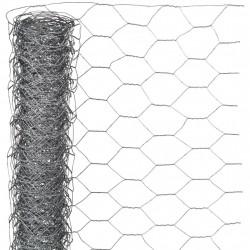 Nature Телена мрежа хексагонална 0,5x5 м 25 мм поцинкована стомана - Огради