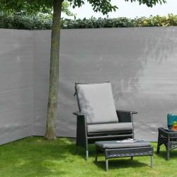 Nature Градинска визуална защита за ограда, PE, 1x3 м, сива - Огради