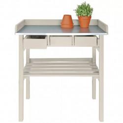 Esschert Design Градинска работна маса, бяла, CF29W - Продукти за монтаж