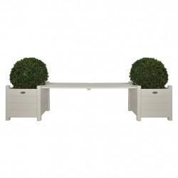 Esschert Design Сандъци за цветя с пейка-мост, бели, CF33W - Сравняване на продукти