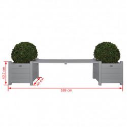 Esschert Design Сандъци за цветя с пейка-мост, сиви, CF33G - Сравняване на продукти