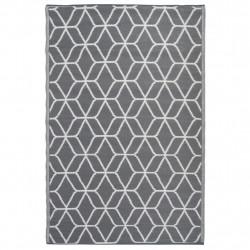 Esschert Design Килим за открито графика 180x121 см сиво и бяло OC25 - Спортове на открито