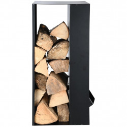 Esschert Design Комплект аксесоари за камина, черна стомана, FF407 - Камини, Комини и Печки на дърва