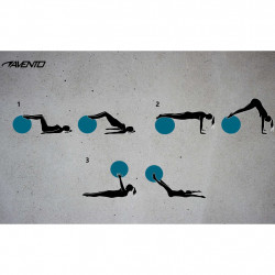 Avento Фитнес/гимнастическа топка, диаметър 65 см, сребриста - Обзавеждане на Бизнес обекти