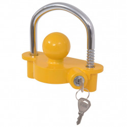 Sonata Заключващ механизъм за ремарке 2 ключа стомана и алуминий жълт - Авто аксесоари