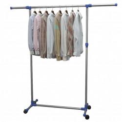 Sonata Регулируема стойка за дрехи, стомана, 165x44x150 см, сребриста - Обзавеждане на Бизнес обекти