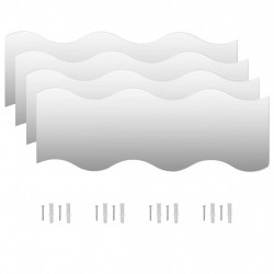 Sonata Стенни огледала, 4 бр, 60x18,5 см, вълнообразни - Огледала