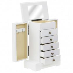 Sonata Кутия за бижута с огледало, МДФ, 25x13,5 x 34 см - Тоалетки