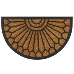 Sonata Изтривалка, кокосови влакна и каучук, полукръг, 45x75 см - Килими, Мокети и Подложки