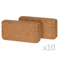 Sonata Пресовани кокосови блокове, 20 бр, 650 гр, 20x10x4 см - Панели и Детайли