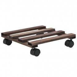 Sonata Цветарници на колелца, 4 бр, кедрово дърво, 25x25 см - Саксии, Кашпи