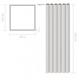 Sonata 6 бр алуминиеви кухи тръби, квадратни, 1 м, 30x30x2 мм - Панели и Детайли