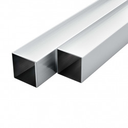 Sonata 6 бр алуминиеви кухи тръби, квадратни, 1 м, 40x40x2 мм - Панели и Детайли